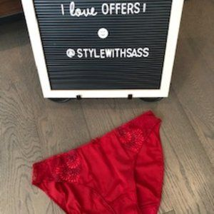 NWOT Chantelle Red Lace underwear sz S
